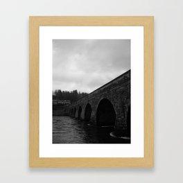 Inistioge Bridge, Ireland Black & White Framed Art Print
