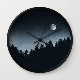 Under Moonlight Wall Clock