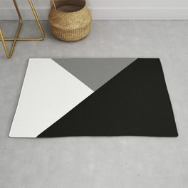 Black and White Angles Rug