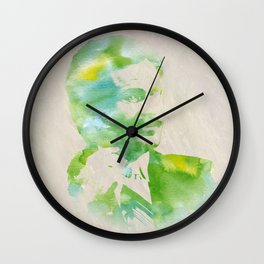 Ron Burgundy - Watercolor Wall Clock