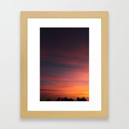 City Sunset Framed Art Print