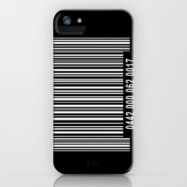 Barcode Inverse iPhone Case