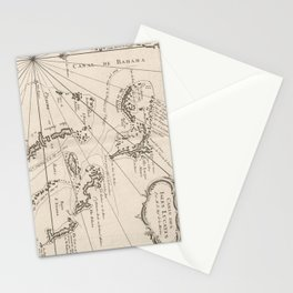 Vintage Map of The Bahamas (1764) Stationery Cards