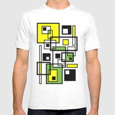 Some Colored Squares Mens Fitted Tee White MEDIUM
