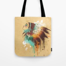 Native American Girl Tote Bag