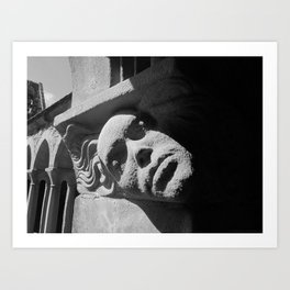 Face from Iona Abbey Art Print