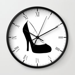 Stiletto Heel Silhouette Wall Clock