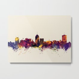 Fresno California Skyline Metal Print