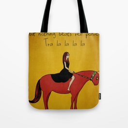 Red Pony Tote Bag