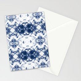 Shibori Tie Dye 3 Indigo Blue Stationery Cards