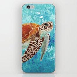 Turtle Swimming iPhone Skin