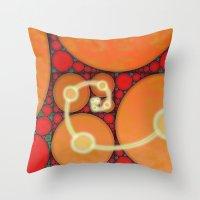 fibonacci Throw Pillows featuring Fibonacci Spiral Fractal by Conceptualized