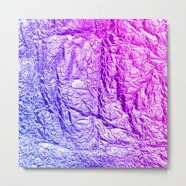 Purple Foil Metal Print