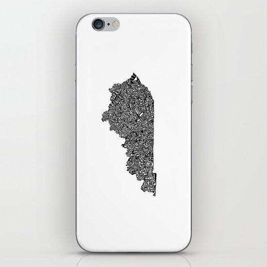 Typographic Kentucky iPhone & iPod Skin