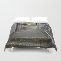 winchester Duvet Covers featuring Winchester Alley by Ashley Callan