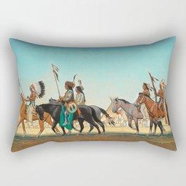 Parade of Warriors by Maynard Dixon Rectangular Pillow