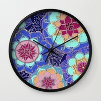 psychedelic Wall Clocks featuring Psychedelic by Marina K.