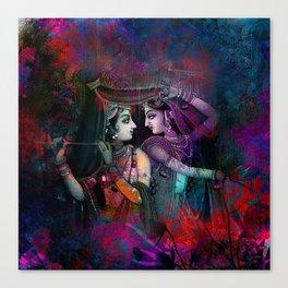 Radha Krishna- the divine Canvas Print