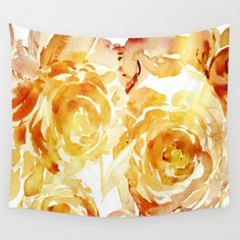 Sunny Day Painterly Floral Abstract Wall Tapestry