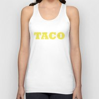 taco Tank Tops featuring Taco by Book Ink Boutique