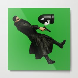 Martix Green Screen Metal Print