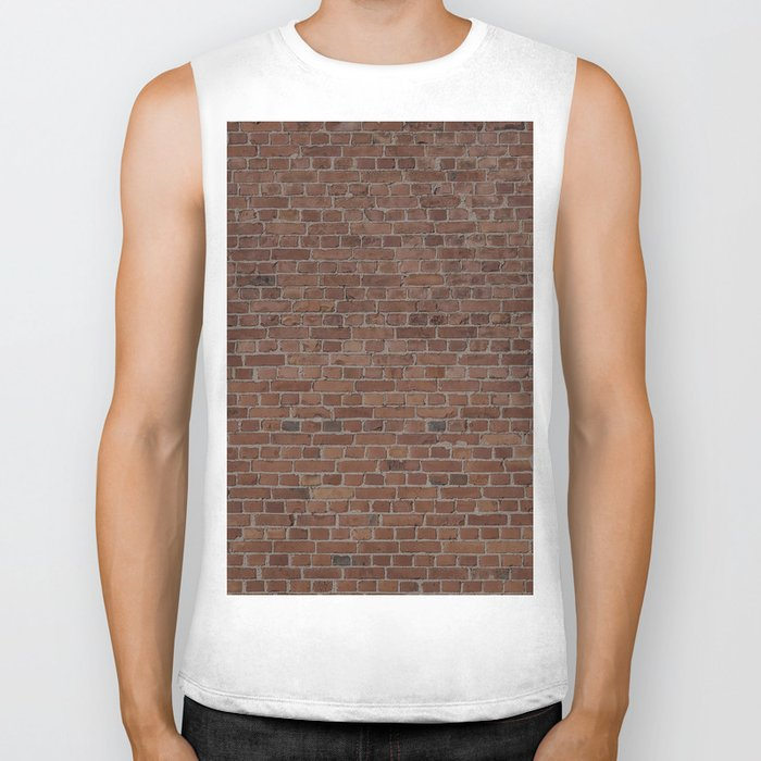 NYC Big Apple Manhattan City Brown Stone Brick Wall Biker Tank