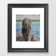 Labradoodle Stewart Framed Art Print