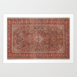 Kashan  Antique Persian Rug Print Kunstdrucke