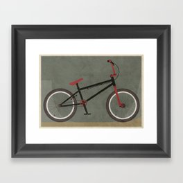 BMX Bike Framed Art Print