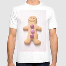 GingerBread Man Mens Fitted Tee SMALL White