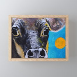 Moon: The Eyes of a Jersey Cow Framed Mini Art Print