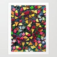 mosaic Art Prints featuring Mosaic by Klara Acel