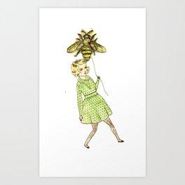 Beeballoon Art Print