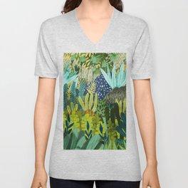 Wild Jungle    #illustration #painting Unisex V-Neck