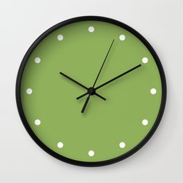 Dots Green Wall Clock