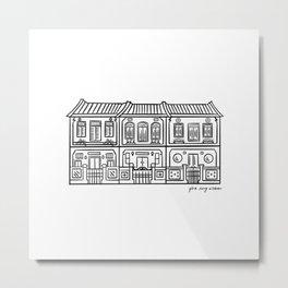 Shop Houses - Singapore  Metal Print