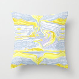 Spring soft serve marble Throw Pillow