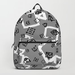pattern with symbols of photos and videos Backpack