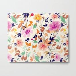Multi color floral pattern Metal Print