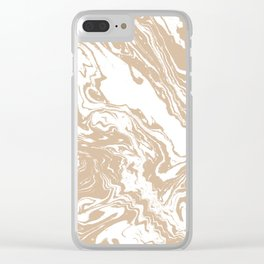 Masago - spilled ink abstract marble painting watercolor marbling cell phone case Clear iPhone Case