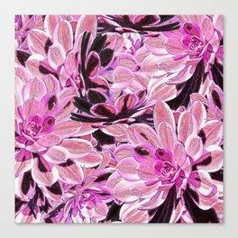 Pink Desert Succulents Canvas Print