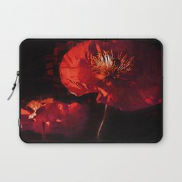 Two Deep Red Poppies Laptop Sleeve