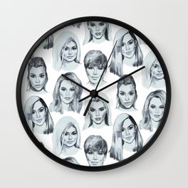 Keeping Up Pattern Wall Clock