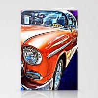 cuba Stationery Cards featuring Cuba Taxi by Brian Raggatt