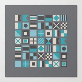 Nautical Flags Alphabet Canvas Print
