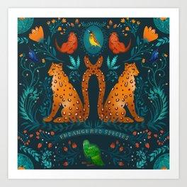 Endangered Animal Art Print