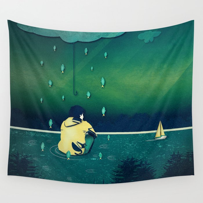 Emotion Sickness Wall Tapestry