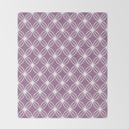 Abstract Circle Dots Purple Throw Blanket