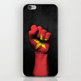 Vietnamese Flag on a Raised Clenched Fist iPhone Skin
