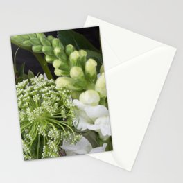 White Wildflowers Stationery Cards